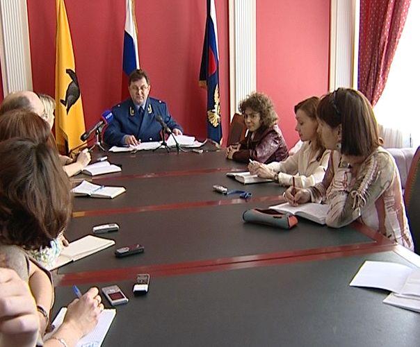Пресс-конференция прокурора области Алексея Алексеева