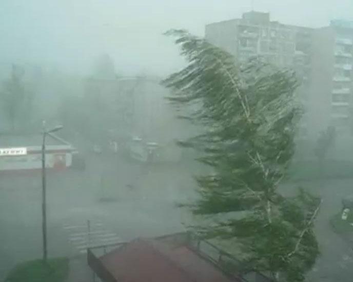 Последствия урагана в области