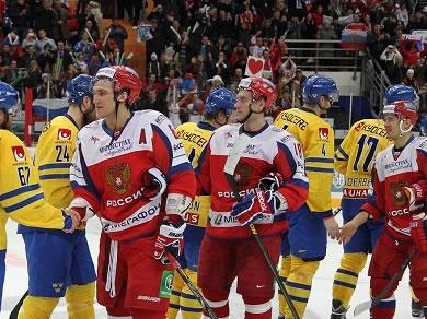 Сборная России по хоккею выиграла на Шведских играх