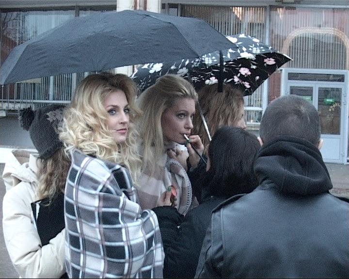 Участницы группы «Фабрика» на съемках в Ярославле