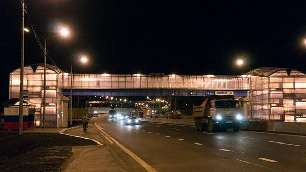 В Кузнечихе открыли надземный пешеходный переход