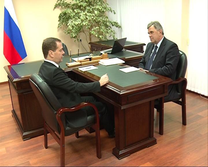 Встреча Дмитрия Медведева с Сергеем Ястребовым