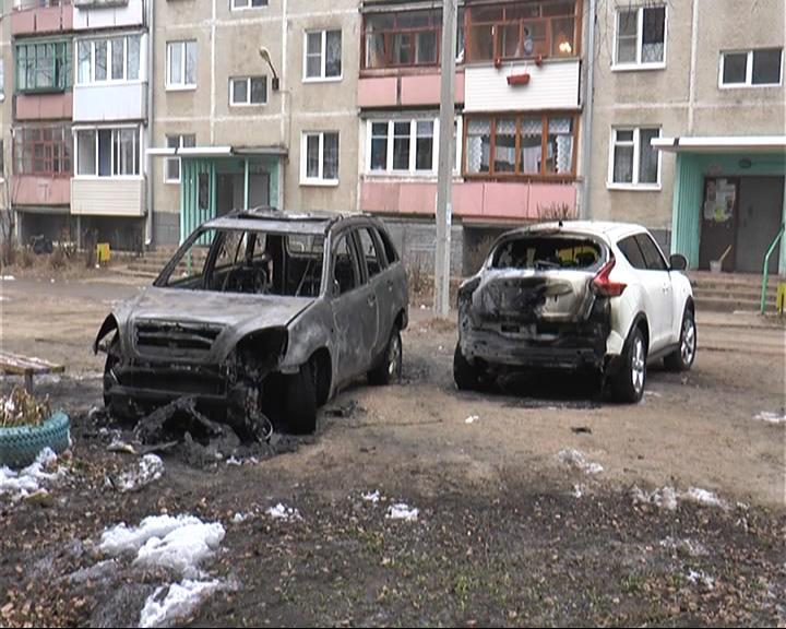 В Переславле горели две машины