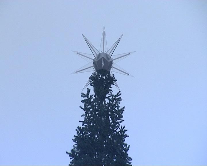 Первая елка в городе