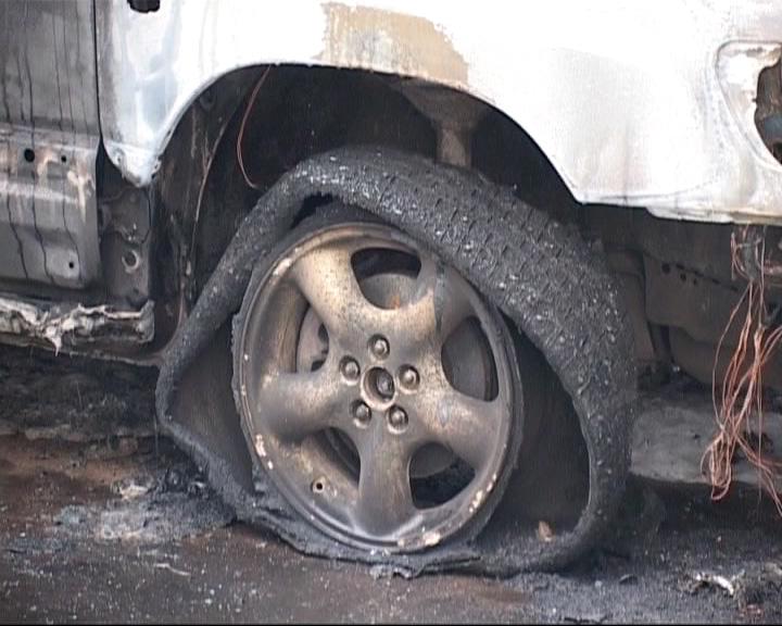В Рыбинске этой ночью горели автомобили