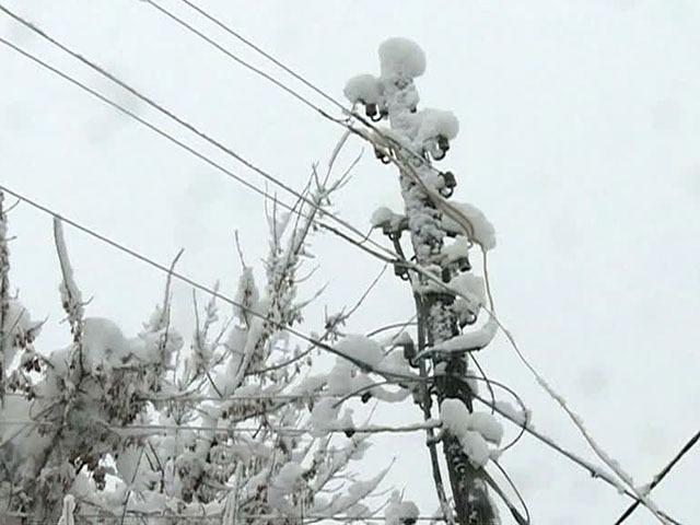 В трех районах Ярославской области из-за снега отключилось электричество