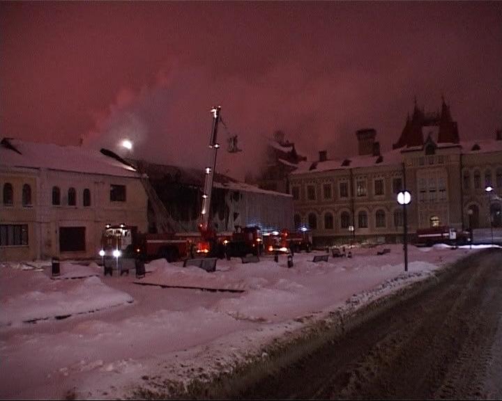В Рыбинске горел музей