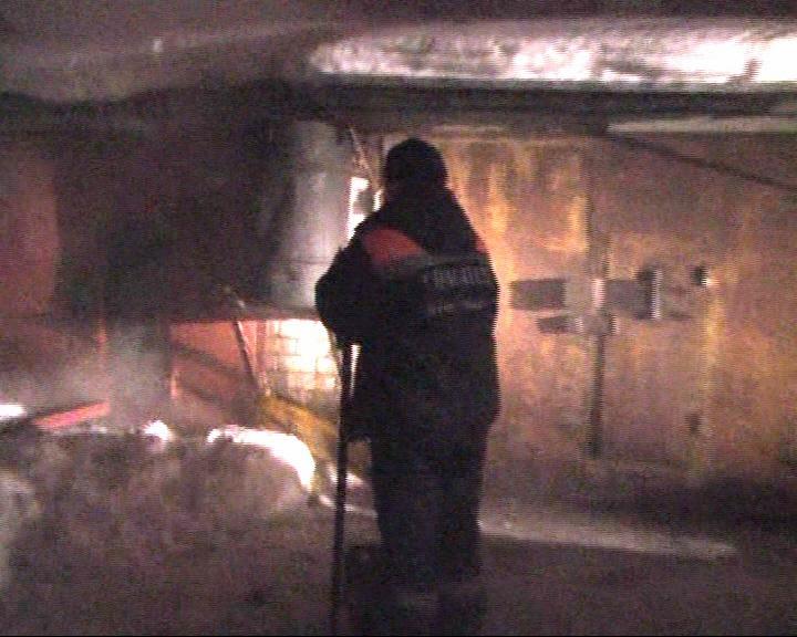 Загорелся гаражный кооператив «Золоотвал»