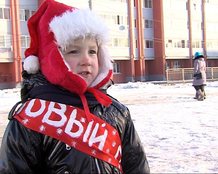 Эстафета новогоднего огня в Ярославском районе
