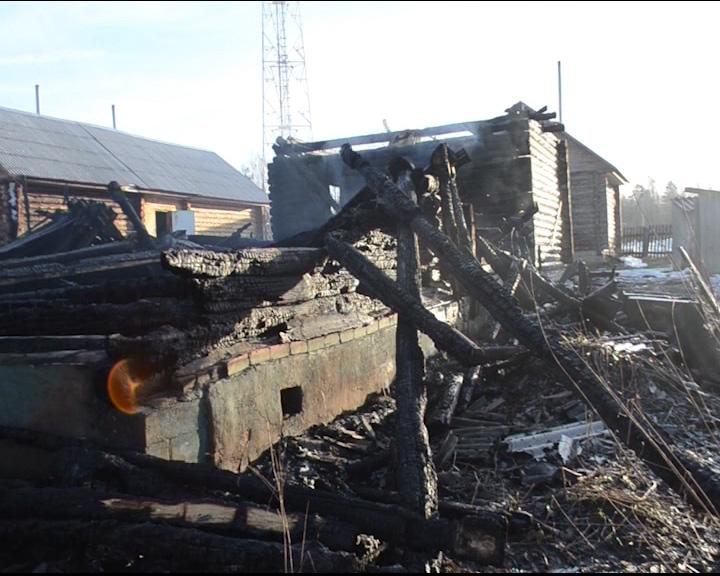 В селе Покровское сгорел жилой дом