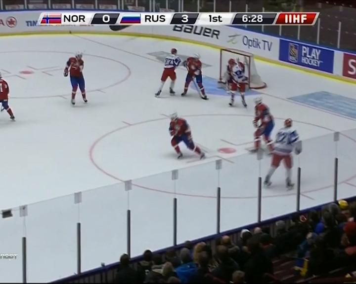 Сборная России по хоккею уверенно стартовала на Молодежном Чемпионате Мира в Швеции