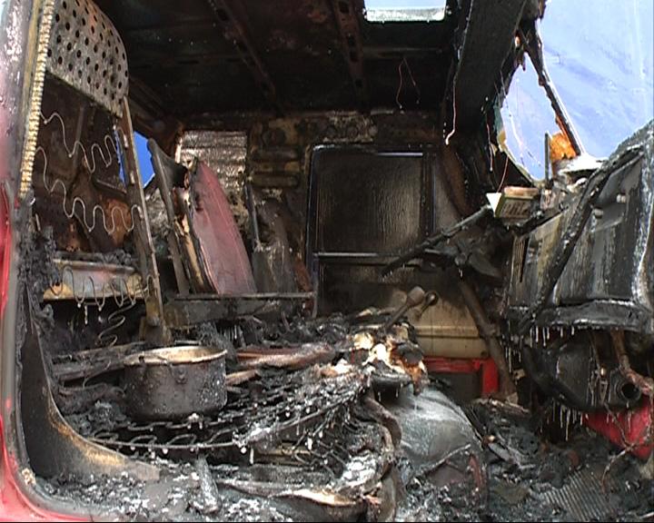 Пожар в грузовике: два человека погибли