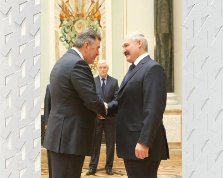 Встреча Сергея Ястребова и Александра Лукашенко