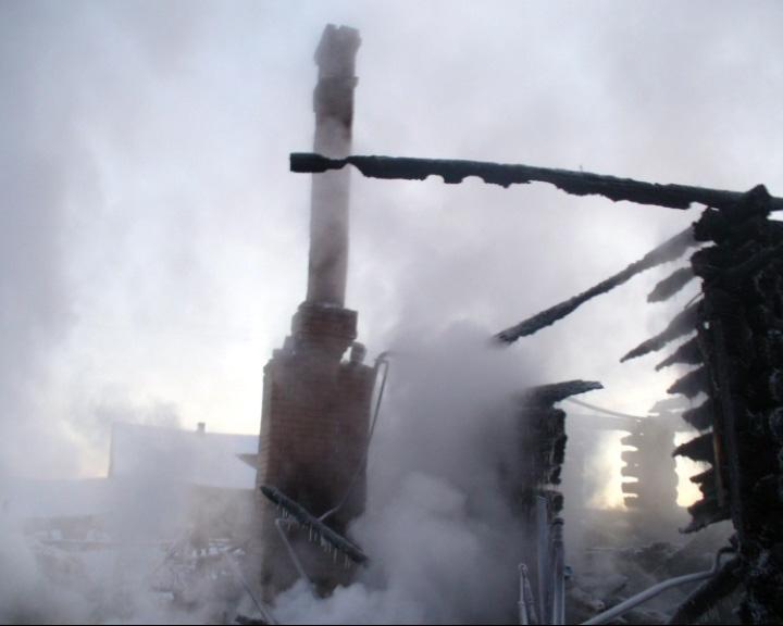 В селе Монушнино сгорел жилой дом