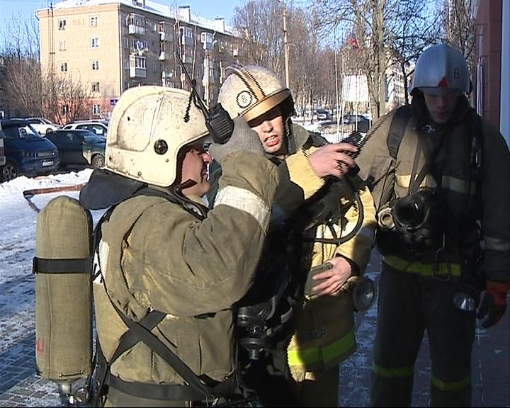 Плановые городские учения рыбинских пожарных
