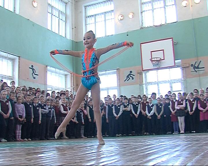Открытие Олимпийских игр в школе № 57