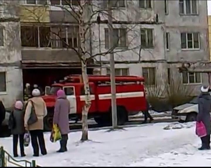 В одной из квартир загорелся мусор