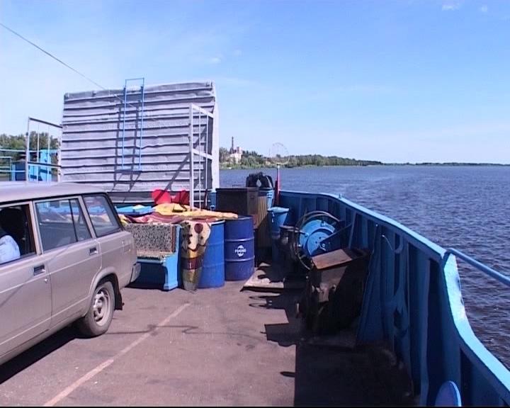 На месяц раньше открылась переправа через Волгу в Мышкине