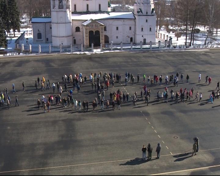 Флешмоб на Советской площади