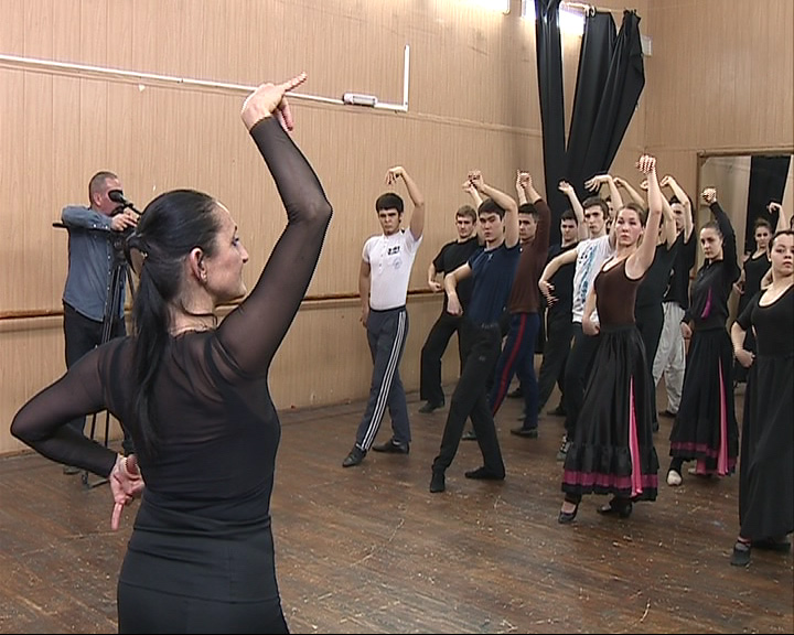 Азы фламенко под руководством французского хореографа Кристин Паско