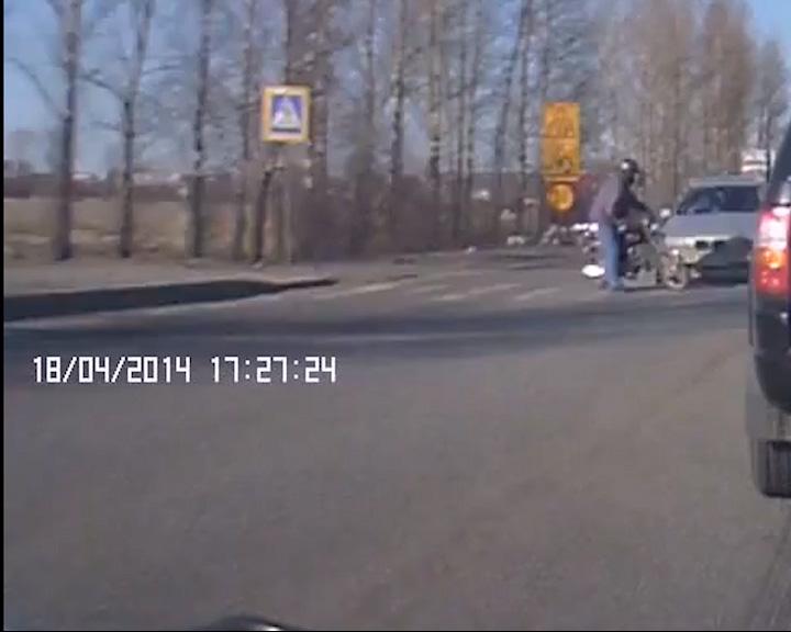 Сбили мотоциклиста