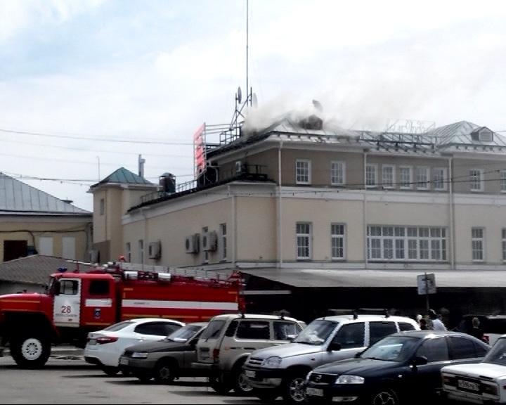 Пожар в торгово-развлекательном центре Переславля