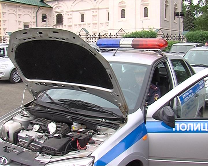 Парк областной полиции пополнился новыми автомобилями