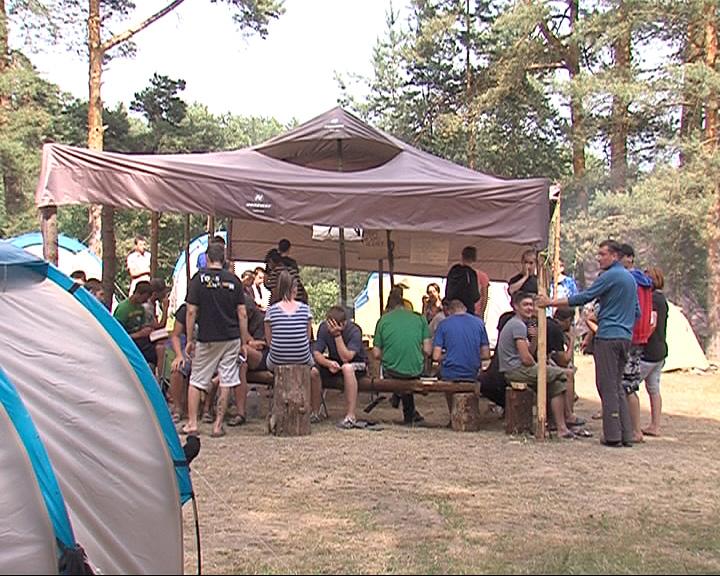 Организован палаточный лагерь для наркозависимых