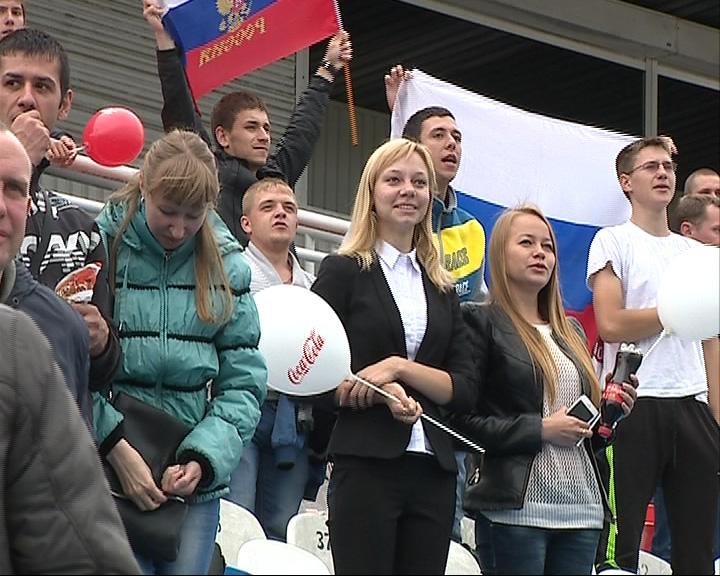 На стадионе «Шинник» велась трансляция матча