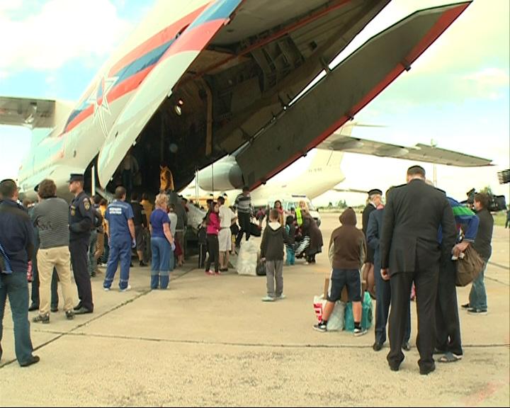 Украинские беженцы прилетели