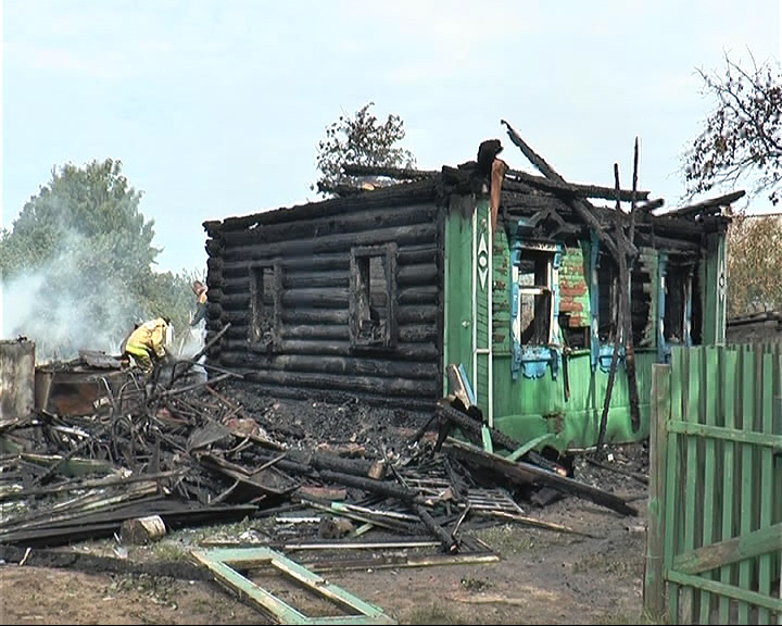 Ночью в селе Рязанцево вспыхнул пожар