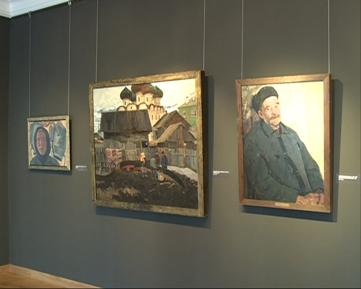 Выставочные залы художественного музея наполнены атмосферой русской деревни, природы и быта