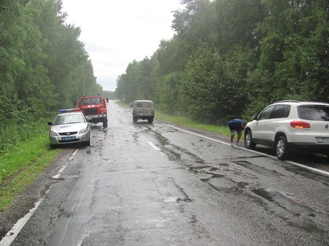 В Некоузском районе автомобиль сбил велосипедиста