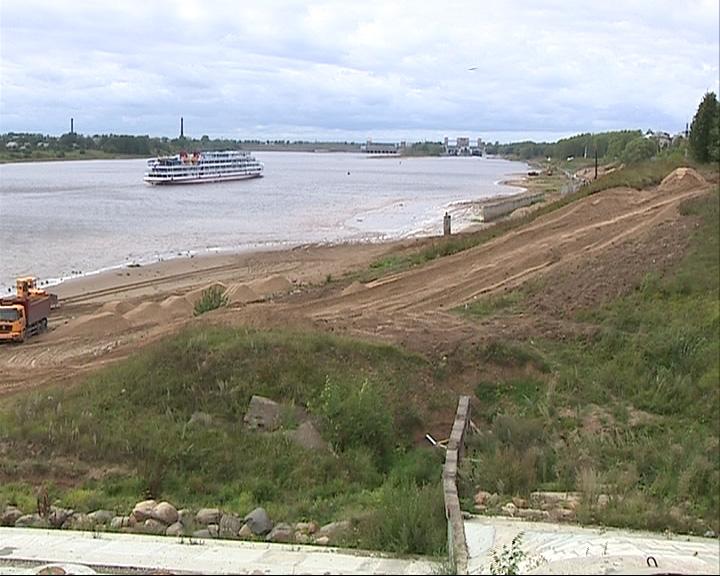 В Рыбинске есть проблемы по срокам окончания работ по берегоукреплению