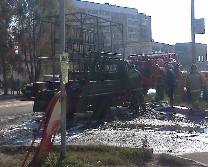 В Тутаеве огонь уничтожил отечественную «ГАЗель»