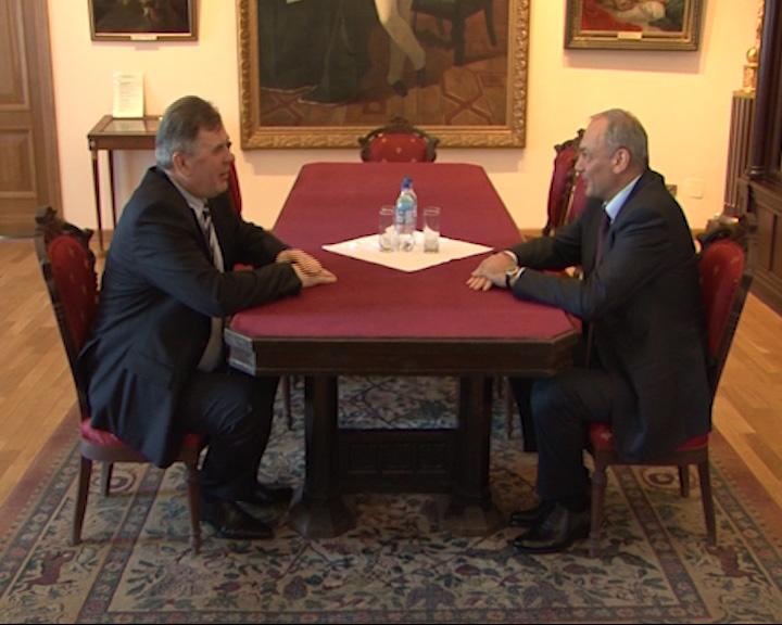 Сергей Ястребов встретился с заместителем руководителя администрации президента Магомед-Саламом Магомедовым