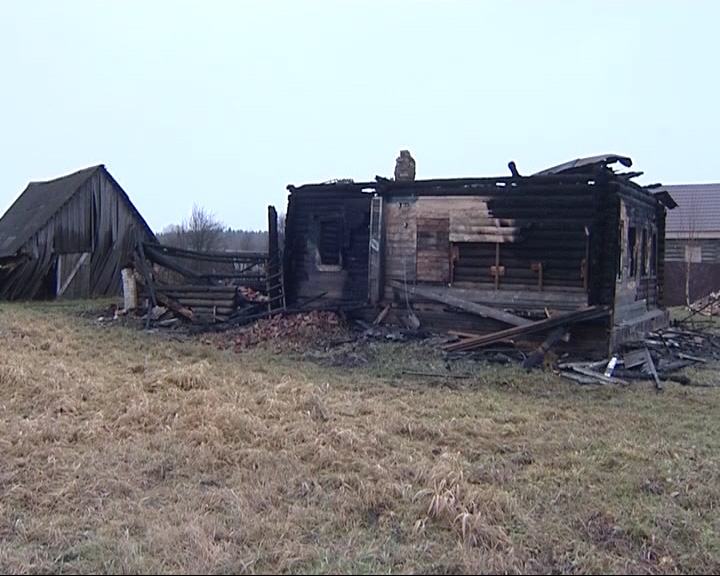 Под Угличем в огне погиб мужчина