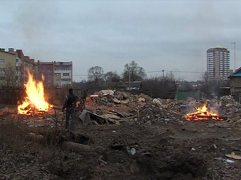 Жители Заволжского района жалуются на костры