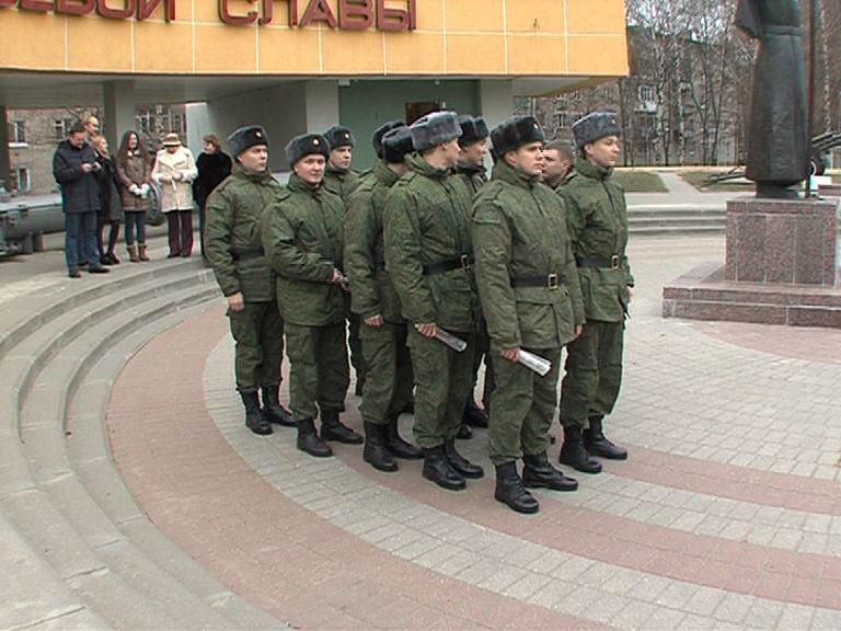 Десять ярославцев отправились служить в Президентский полк