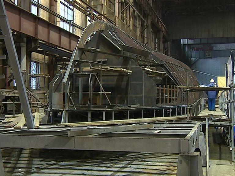 На судостроительном заводе приступили к постройке катера ледового класса