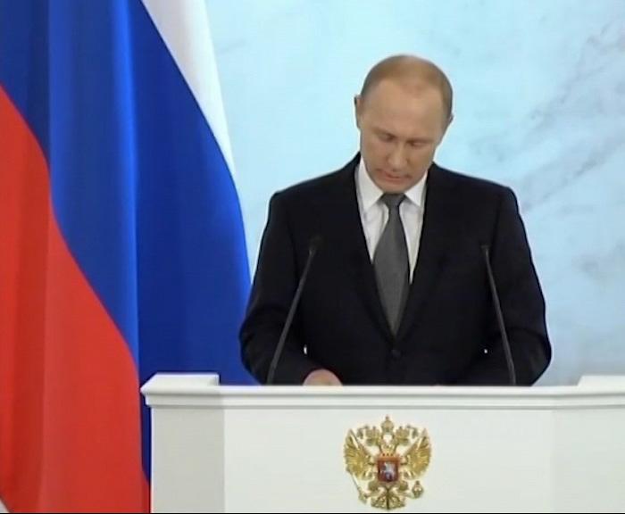 Владимир Путин выступил с ежегодным посланием к Федеральному собранию