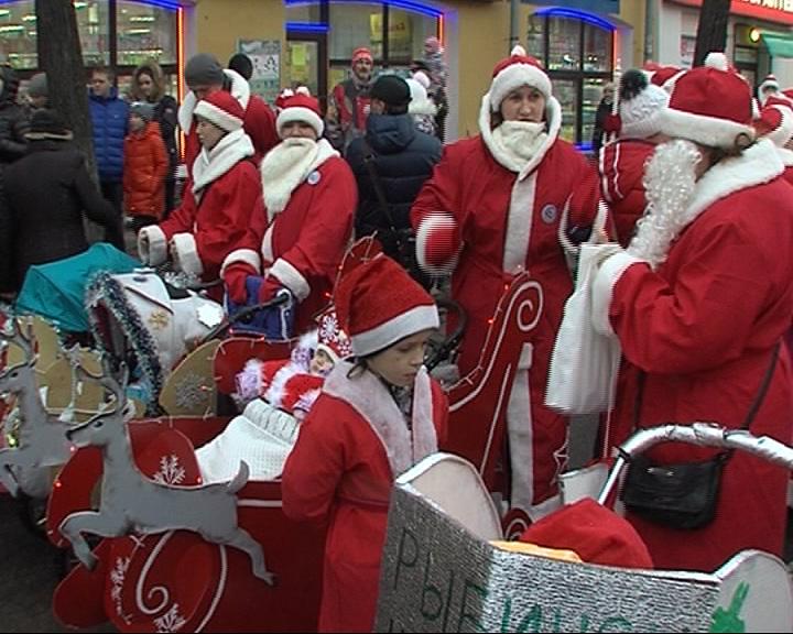 В Рыбинске прошло «НаШествие Дедов Морозов»