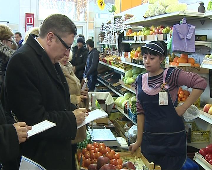 Заместитель губернатора Александр Шилов проинспектировал цена на продукты