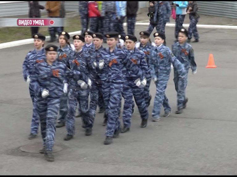 В Ярославле на базе ОМОН прошел строевой смотр отряда «Юные друзья полиции»