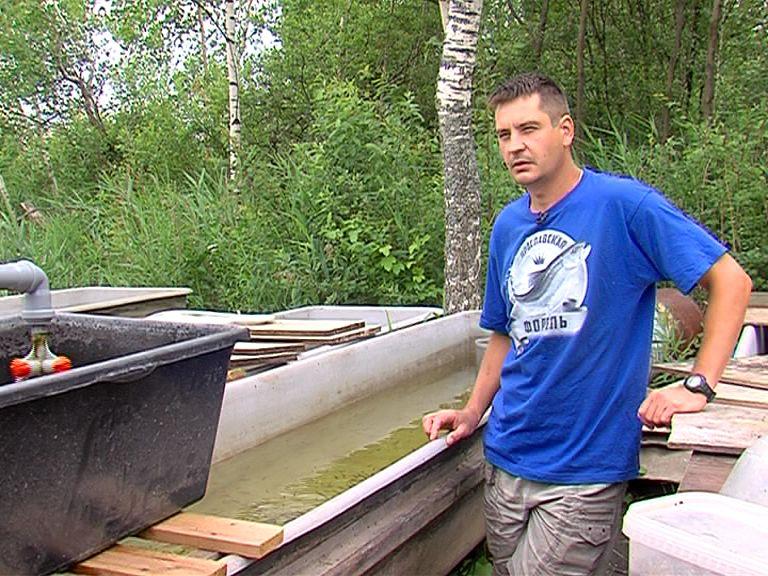 Ярославец на своей ферме разводит форель и стерлядь