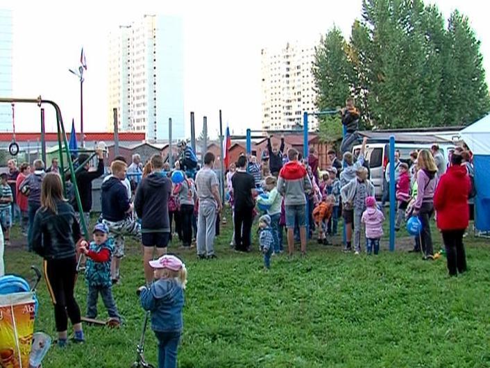 В Ярославле установили новый спортивный городок