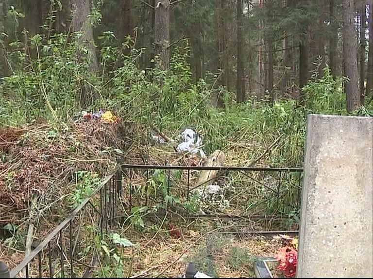 На Игнатовском кладбище груды мусора складируют прямо между памятниками