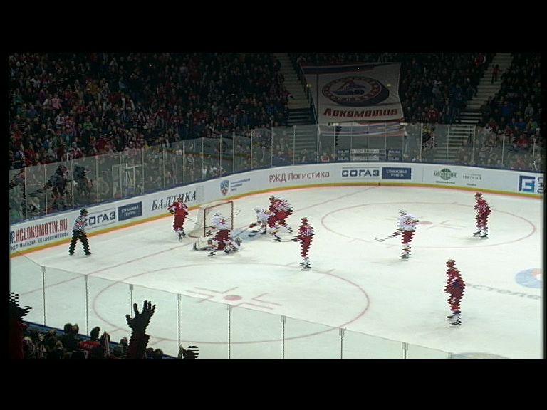 Шайба нападающего «Локомотива»вошла в десятку лучших голов восьмой игровой недели КХЛ