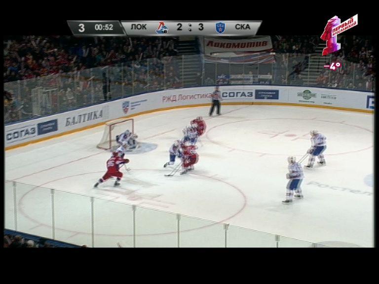 «Локомотив» на домашнем льду уступил СКА