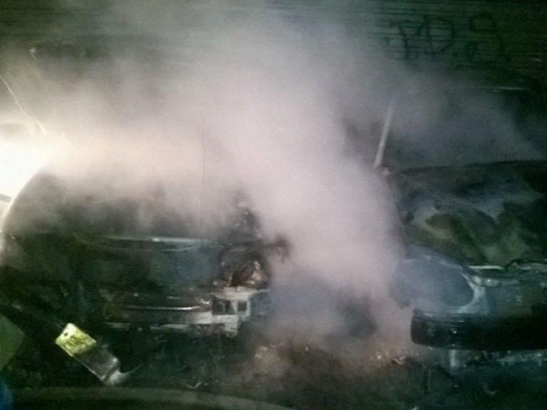 На Полушкиной роще горели два авто